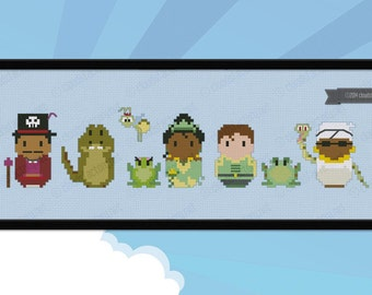 The Princess and the Frog parody - Cross stitch PDF pattern
