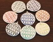 Small Round Knit Pendant