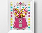 Pink Bubblegum Cross-Stitch Pattern