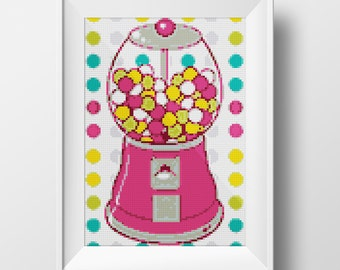 Pink Bubblegum Cross-Stitch Pattern