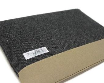 "CLEARANCE SALE MacBook 12-inch Case MacBook 12"" Sleeve 12 inch cover  - Gray Herringbone Wool"
