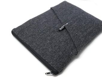 """Men's Laptop Case, 11"""" 13"""" 15"""" MacBook Pro Case, MacBook Air Sleeve MacBook Pro 15 inch Retina Display Cover Unisex Men's - Gray Herringbone"""