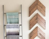 Wood Arrow Wall Art, Chevron Home Decor