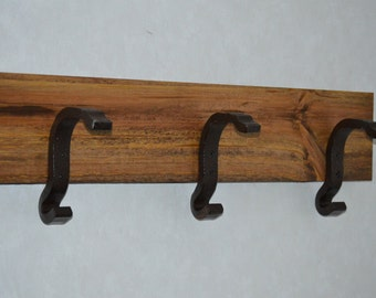 Recycled Railroad Track Anchor Coat Rack