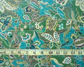 Fat Quarters 4 pcs Green Paisley, Cotton Fabric Quilting, Paisley Print FQ, Sewing Fabric, Crafts, Quilting, Cotton Fabric, Sewing Quilting,