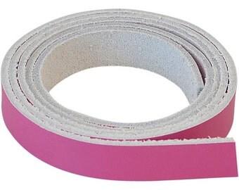 "10 Flat Leather Cord Bracelet Blank 1 Meter Strips Destash 1/2"""