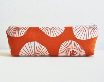 Makeup Bag Cosmetic Case Zipper Pouch Toiletry Storage Moira in Apricot Lotta Jansdotter Echo