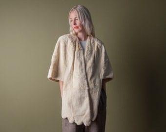 ermine fur stole / capelet / vintage fur coat / s / m / l / 748o