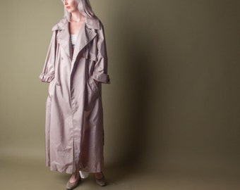 audition oversized trench rain coat / classic rain coat / vintage 80s trench coat / m / l / 753o