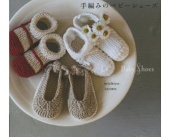 Cute Baby's Knit Crochet Shoes- Japanese Craft Book