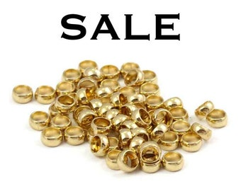 Vintage Gold Plated Rolo Ring Findings (40X) (V451) SALE - 50% off