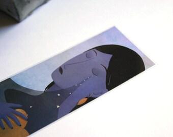 Sadness - illustrated bookmark