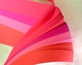"1/2"" Weaving Paper Strips~ Bright Pinks (100 strips)"