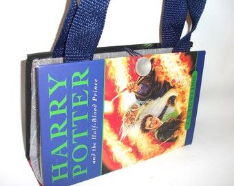 Harry Potter Book Purse Half Blood Prince, Handmade Upcycled Women's Fashion Clutch Handbag