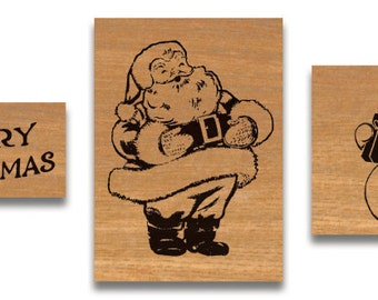 Christmas Rubber Stamp set cavallini stamps cavallini rubber stamps