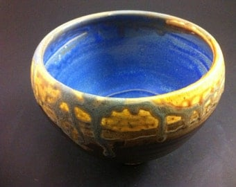 Blue and Yellow Tea Bowl