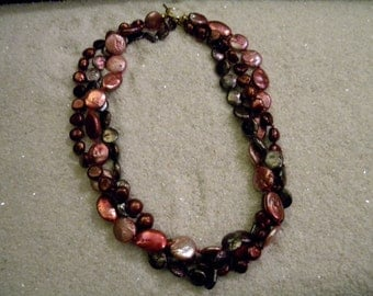 Three-strand Freshwater Pearl Necklace N43