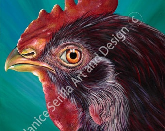 Artwork print Road Island Red Chicken