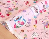 Japanese Fabric Yuwa Paris Sweets - pink - 50cm