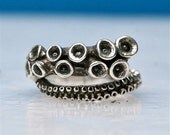 Octopus Tentacle Ring Sterling silver tentacle jewelry adjustable ring designed by Zulasurfing