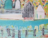 Original painting by Michelle Daisley Moffitt.....Fences