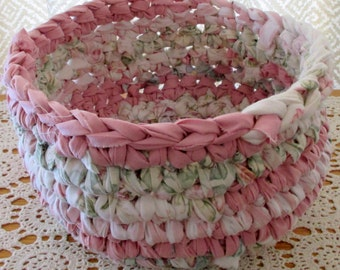 Cloth Basket - Fabric Basket - Nursery Decor - Baby Shower - Pink Basket - Gift Basket - Baby Girl Nursery Decor - Gift for Baby Shower