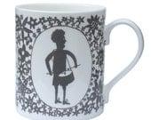 Drummer Boy Grey Mug