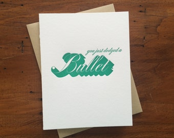 Drop Shadow: Bullet, single letterpress card