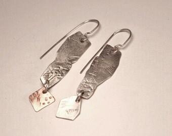 Sterling Freeform Dangle Earrings