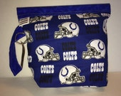 Indianapolis Football Snappy Knit Double Shot Project Bag. Organize your knit, crochet, toiletries or electronics easily!