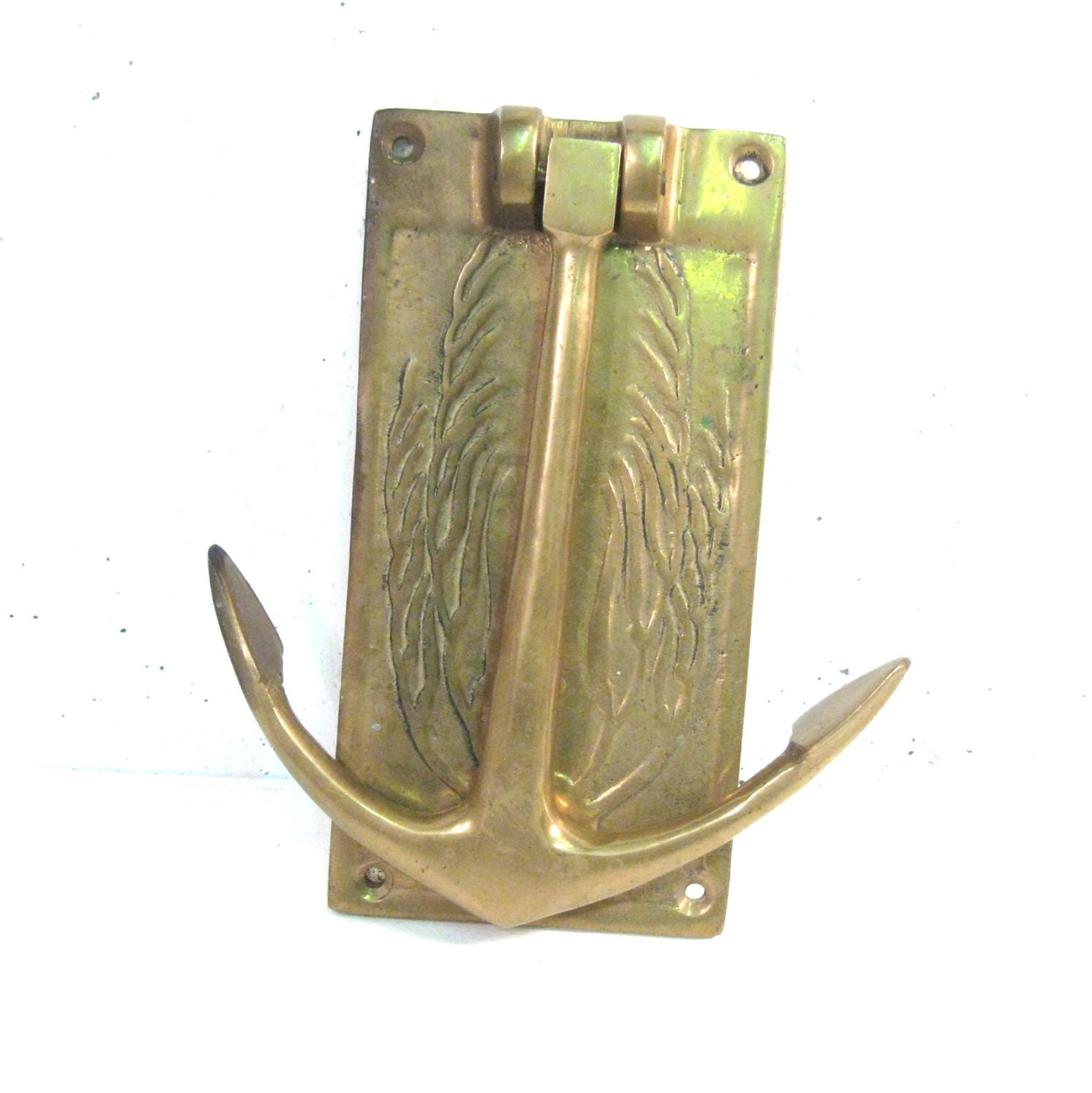 Large brass anchor door knocker - Anchor door knocker ...