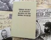 Pocket Notebook- Things TV Shows Recipes Books
