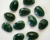 Gemstone Cabochons Adventurine Green Freeform Rose Cut 14x10mm FOR ONE