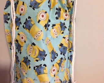 Minion Draw String Back Pack