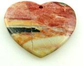 Multi-Color Amazonite Heart Pendant Bead Destash