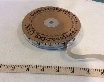 Antique Tape Measure - Twill - By Creative Impressions - 25 Yard Roll - 13.50 - 1/2 inch wide