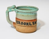 Custom name small mug, lightweight, personalized pottery, made to order