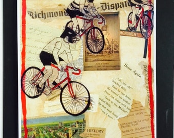 RVA Bike Race Limited Edition Print from Original Painting Collage