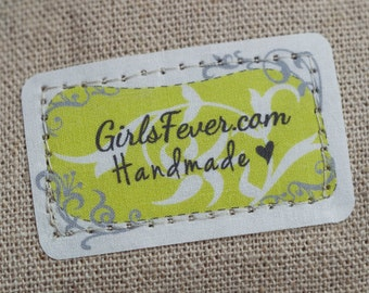 Custom iron on cotton labels textile tags clothing labels fabric labels PRE-CUT