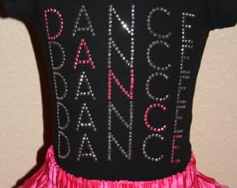 DANCE X5 rhinestud tee by Daisy Creek Designs