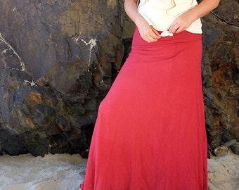 ORGANIC Secret Pocket Wanderer Long Skirt - ( light hemp and organic cotton knit ) - organic maxi skirt