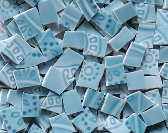 Mosaic Tiles--Debonair Blue --100 tiles