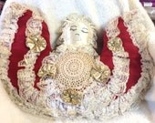 Vintage Angel Pillow 20 x15