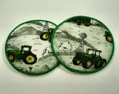 John Deere Farmsted Cloth Coaster Set of 2   Set #15