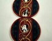 Dogs Cloth Coaster Set of 2    Set #23