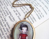 HALF PRICE CLEARANCE -- Elegant Oval Art Locket -My Captain... We've reached the end of the world- D02