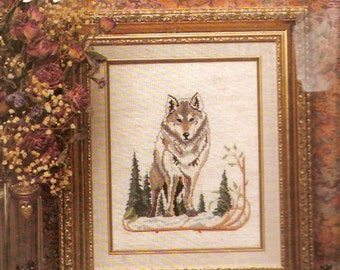 Heirloom Treasures Wolf 5211 counted cross stitch needlework kit Unopened 8 X 10 DMC needlework project