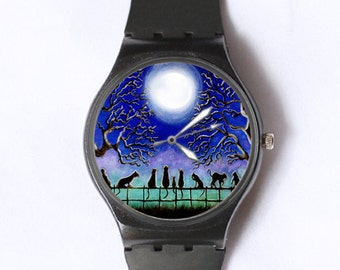 Black cats everyday or Halloween watch