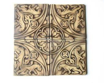 Replica Medieval Tiles Set of 4