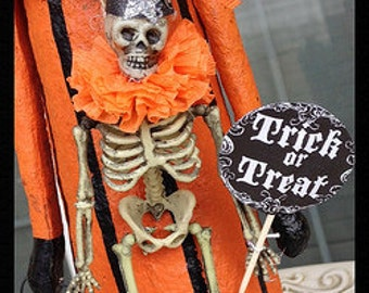 Halloween Decoration Festive Skeleton Halloween Decoration for Halloween Party or Day of the Dead Halloween Ornament